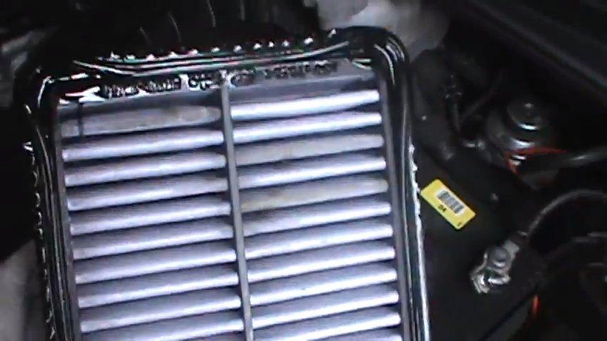 aceite en el filtro de aire